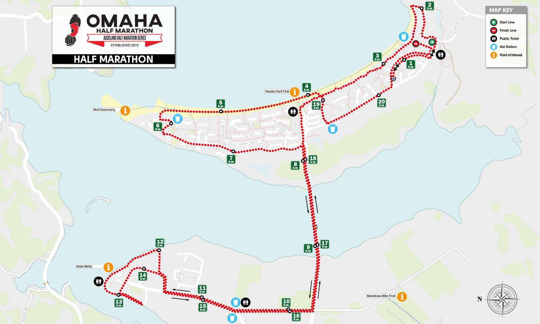 Half Marathon Course Map
